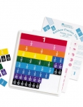Rainbow fraction tiles