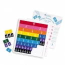 Rainbow fraction tiles