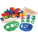 Abc number dough cutters