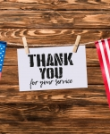 Memorial day thank you card een