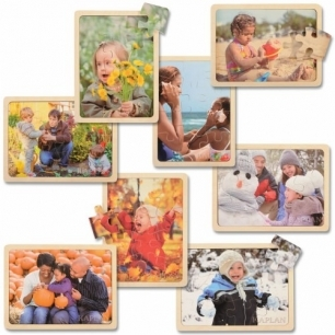Four seasons puzzle set