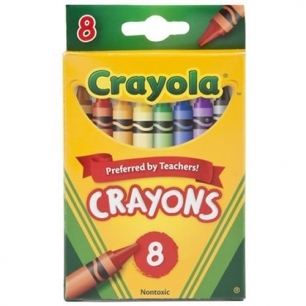 Crayons box of 8